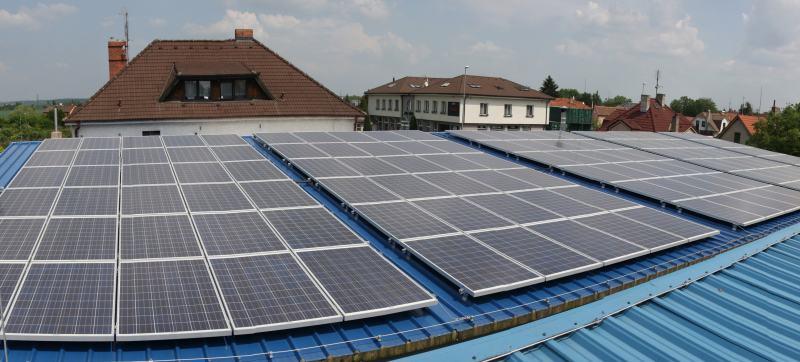 Fotovoltaická elektrárna 30kWp v Praze včetně Tigo monitoringu.