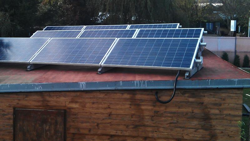 Ostrovní elektrárna 2,25 kW pro zásobování chaty