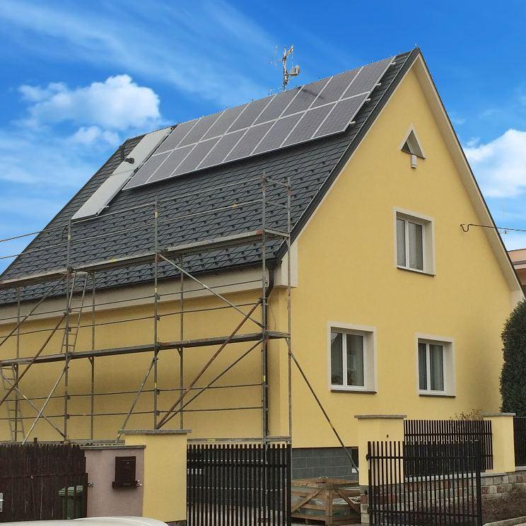 Hybridní elektrárna v Opavě, spolufinancovaná z programu Nová zelená úsporám.