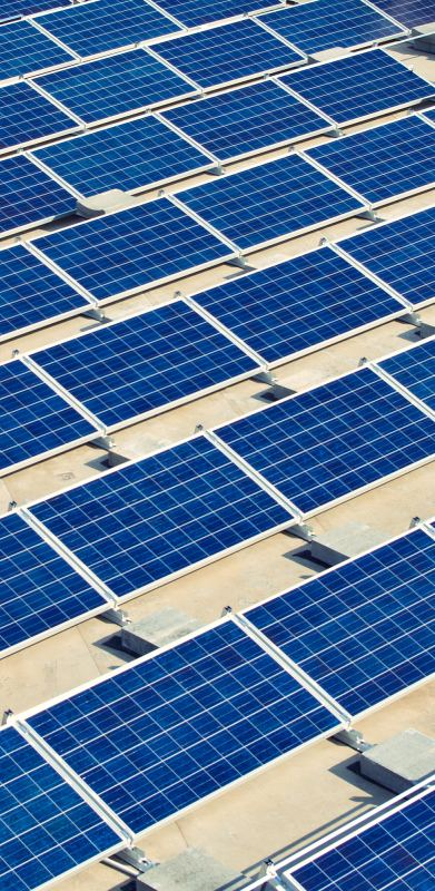 Solar panel energy plant